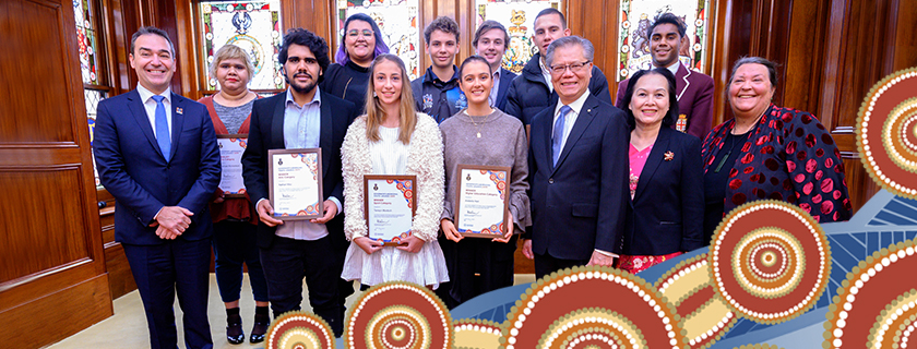 Picture of the winners and finalists of the Governor's Aboriginal Youth Awards