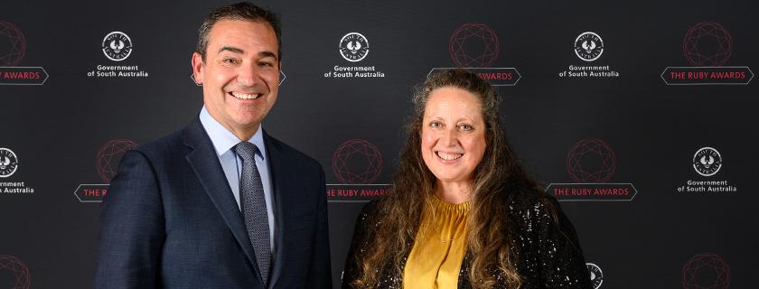 Kari Seeley and Premier Steven Marshall