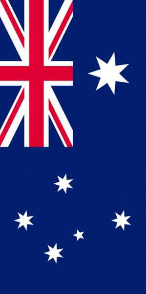 Picture of the Australia Flag vertical