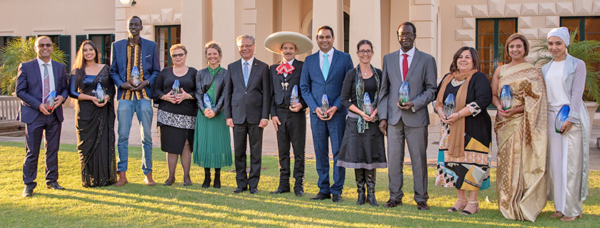 Picture of the Governor of South Australia with the winners of the Governor's Multicultural Awards 2018 at Government House