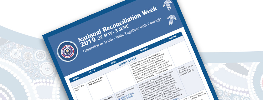 Picture of the National Reconciliation Week 2019 Calendar of Events