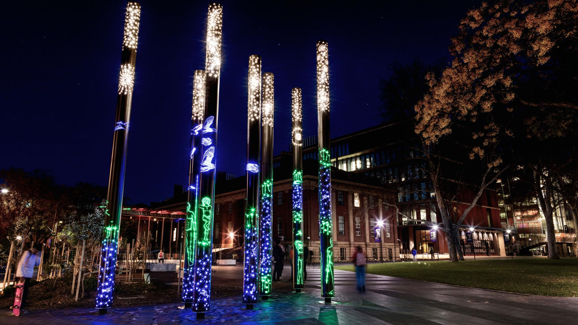 Light display at University of Adelaide