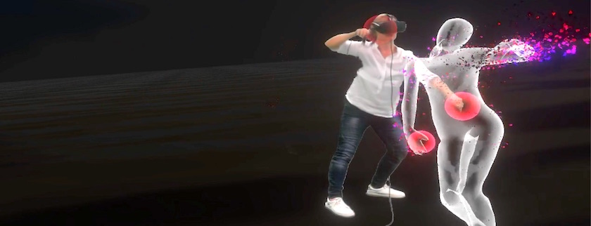 One person dancing with VR